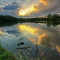 Community Lake #8 Sunset by Mark McDaniel