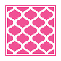 Compact Marrakesh With Border In French Pink by Custom Home Fashions