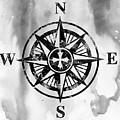 Compass-black by Erzebet S