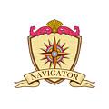 Compass Navigator Coat Of Arms Crest Retro by Aloysius Patrimonio