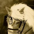 Amos - Sepia - Ohio Horsepulling by Jan Dappen