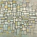 Composition In Blue Gray And Pink by Piet Mondrian