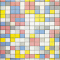 Composition With Grid Ix by Piet Mondrian