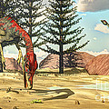 Compsognathus Dinosaur Attempts To Eat by Elena Duvernay