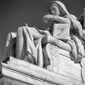 Comtemplation Of Justice 1 Bw by Jerry Fornarotto