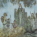 Comus Sabrina Rises Attended By Water-nymphs by Arthur Rackman