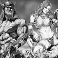 Conan And Red Sonja by Bill Richards