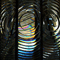 Concentric Glass Prisms - Water Color by Linda Shafer