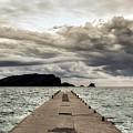 Concrete Pier Off-season by Bratislav Stefanovic