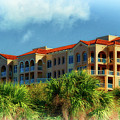 Condos Among The Palms And Clouds Clearwater Florida by Ola Allen