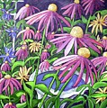 Coneflowers In Gentle Wind by James O'Connell