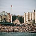Coney Island Beach Day by Robert J Caputo