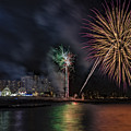 Coney Island Boardwalk Fireworks by Susan Candelario