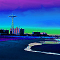 Coney Island Parachute Jump And Beach by Kendall Eutemey