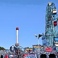 Coney Island's Astroland  by Madeline Ellis