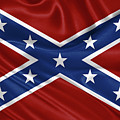 Confederate Flag - Second Confederate Navy Jack And The Battle Flag Of Northern Virginia by Serge Averbukh