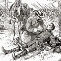 Confederate General John Brown Gordon Assists Wounded Union General Francis Channing Barlow by American School