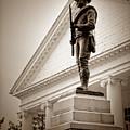 Confederate Memorial In Sepia Tone by Doug Berry