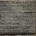 Confederate Solider Monument by Randy Bodkins