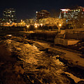 Confluence Park Rapids At Night by Cary Leppert