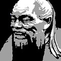 Confucius - Portrait By Asbjorn Lonvig by Asbjorn Lonvig