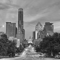 Congress Andtexas Capitol Black And White 1 by Rob Greebon