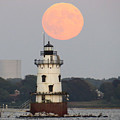 Conimicut Moon 2 by Donna  J Brooks