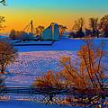 Conley Road Farm Winter  by Tom Jelen