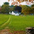 Connecticut Autumn Farm Path by Jeff Folger
