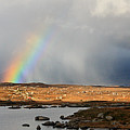 Connemara Storm Leaving A Rainbow In Its Wake Ireland by Pierre Leclerc Photography