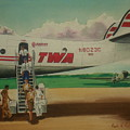 Connie Crew Deplaning At Columbus by Frank Hunter