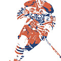 Connor Mcdavid Edmonton Oilers Pixel Art 6 by Joe Hamilton