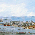 Constantinople Ships by Munir Alawi
