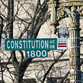 Constitution Avenue Street Sign by Brendan Reals
