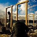 Construction In Ladakh by Indrajit Khambe