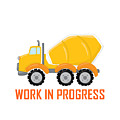 Construction Zone - Concrete Truck Work In Progress Gifts - White Background by Life Over Here