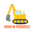 Construction Zone - Excavator Work In Progress Gifts - White Background by Life Over Here