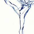 Contemporary Ballet Dancer, Blue by Judith Kunzle