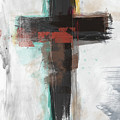 Contemporary Cross 1- Art By Linda Woods by Linda Woods