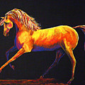 Contemporary Equine Painting Illuminating Spirit by Jennifer Morrison Godshalk