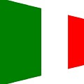 contemporary Italian Flag by Florene Welebny