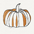 Contemporary Pumpkin- Art by Linda Woods by Linda Woods