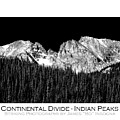 Continental Divide - Indian Peaks - Poster by James BO  Insogna
