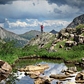 Continental Divide Above Twin Lakes 4 - Weminuche Wilderness by Bruce Lemons