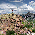 Continental Divide Above Twin Lakes - Weminuche Wilderness by Bruce Lemons