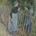 Conversation by Camille Pissarro
