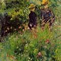 Conversation In A Rose Garden 1876 by Renoir PierreAuguste