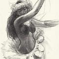 Cook Islands Drum Dancer With Pearl Shells by Judith Kunzle