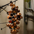 Cool Copper Pots - Parisian Restaurant Left Bank La Rive Gauche by Georgia Mizuleva