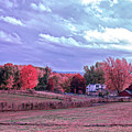 Cool Sunset Autumn Farm by Aimee L Maher ALM GALLERY